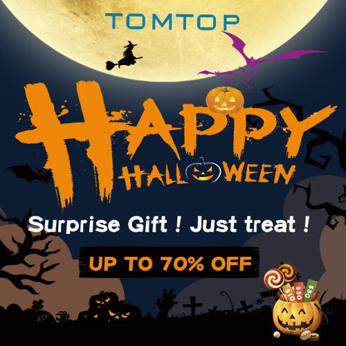 Up to 70% off  Halloween Party Gifts 2020 @tomtop.com
