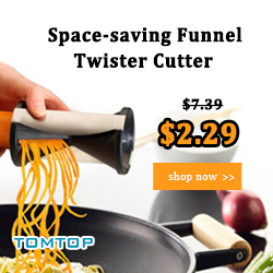 69% OFF Compact Vegetables Fruits Funnel Julienne Twister
