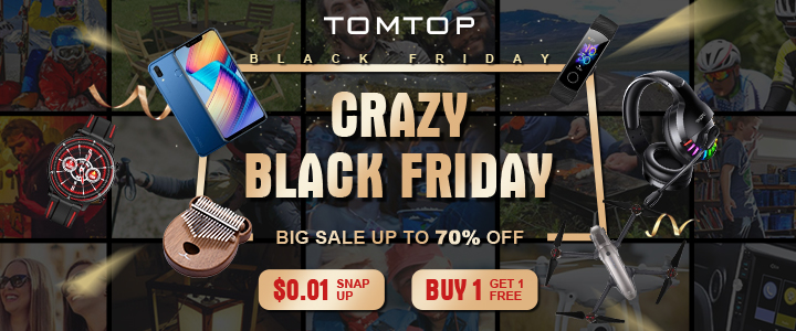 Big Sale Up to 70% OFF @tomtop