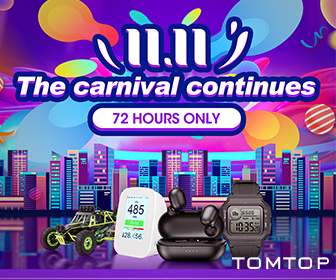 Carnival continues 72 hous only @tomtop