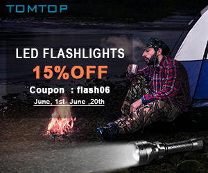 Extra 15% Off LED Flashlights, Ends: June 20th, 2016