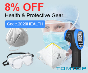8% OFF Health & Protective Gear(Code:2020HEALTH)