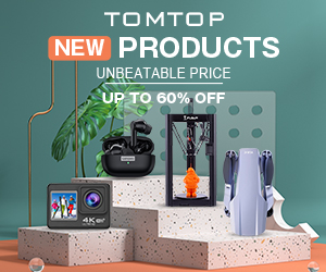 Up to 60% OFF New products Sale @ tomtop.com