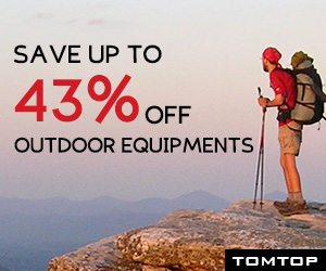 Save Up To 43% Off Outdoor Equipments, EXP:Jan 22nd