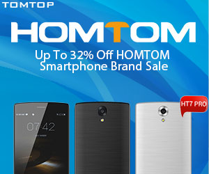 Up To 32% Off HOMTOM Smartphone Brand Sale
