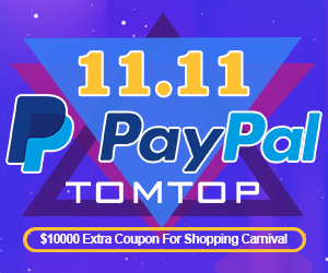 Get $10000 Extra Coupon for Shopping Carnival @Tomtop