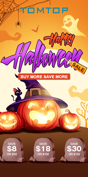 Buy More Save More for Halloween Sale @tomtop.com