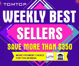 Weekly Best Sellers Save More Than $350 @Tomtop.com