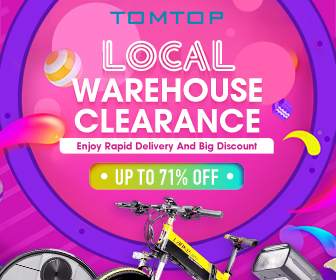 Up To 71% Off Local Warehouse Clearance Sale 2020  @Tomtop.com