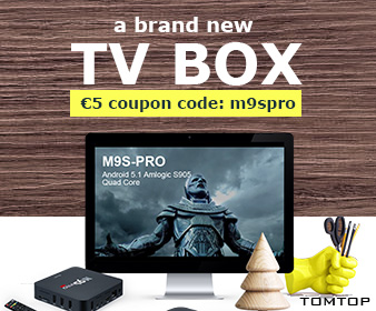 €5 Off Docooler M9S-PRO Smart Android TV Box(Code: m9spro), Ends: July 31, 2016
