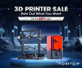 Up to 60% OFF 3D Printer Sale @TOMTOP