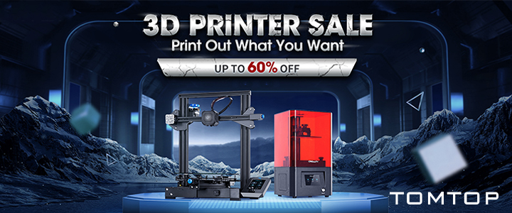 Up to 60% OFF 3D Printers Sale @TOMTOP