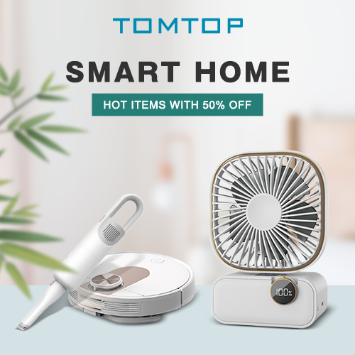 Up to 50% OFF Smart Home Sale @tomtop.com