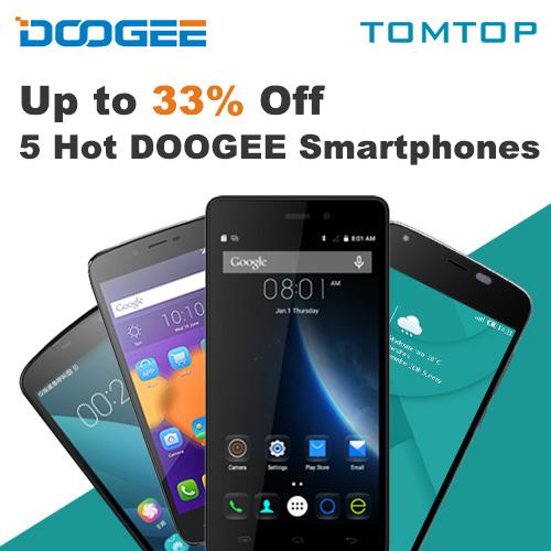 DOOGEE Smartphones New Season Sale, EXP: April 16th, 2016