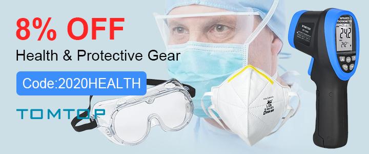 8% OFF Health & Protective Gear(Code:2020HEALTH)