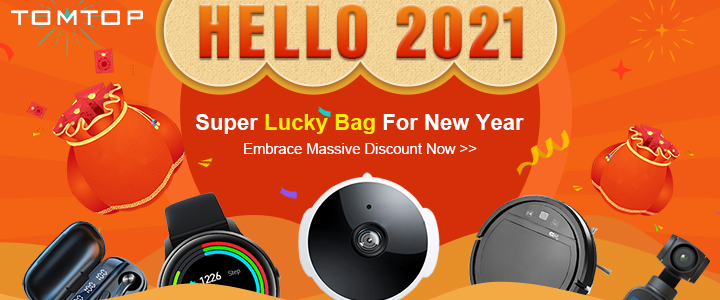 Embrace Massive Discount for New Year @tomtop.com
