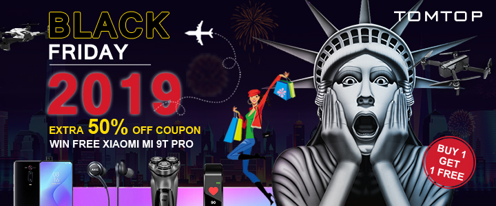 Black Friday 2019: Get Extra 50% Off Coupon @tomtop.com