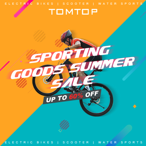 Up to 60% OFF Sports Accessories Sale @tomtop.com