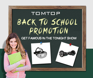 Back To School Outdoor Products and VR Sale, Ends: Aug 28@tomtop.com