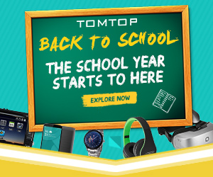 Back To School Sitewide Promotion, Ends: Aug 28@Tomtop.com