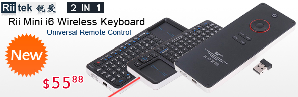 2.4G IR Rii Mini i6 Wireless Keyboard