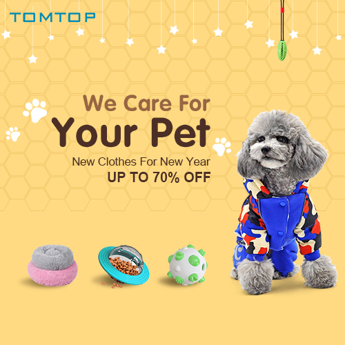 Up to 70% OFF Pet Supplies Sale @tomtop.com