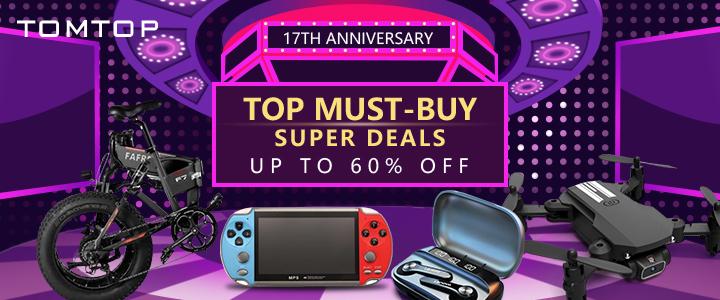 Up to 60% OFF Super Deals @  tomtop