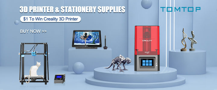 $1 to Win Creality 3D Printer @tomtop.com