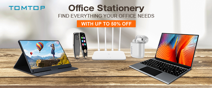 Up to 50% OFF Office Stationary Sale @tomtop.com