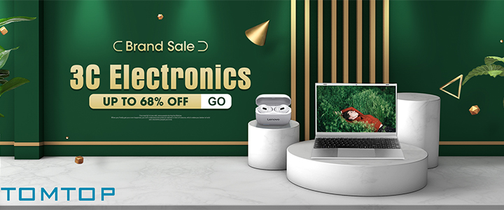 Up to 60% OFF Electronics Brand Sale @ tomtop.com