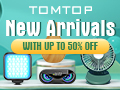 Up to 50% OFF New Arrivals in May @tomtop.com