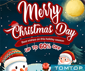 Up to 60% OFF Christmas Sale @tomtop