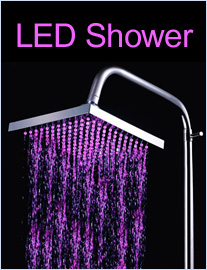 You find a LED shower for you which can change the colors on water temperature or water pressure.