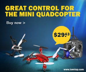 Great control for the mini quadcopter