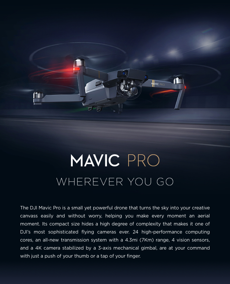 $161 discount for DJI Mavic Pro Quadcopter, $1238.99