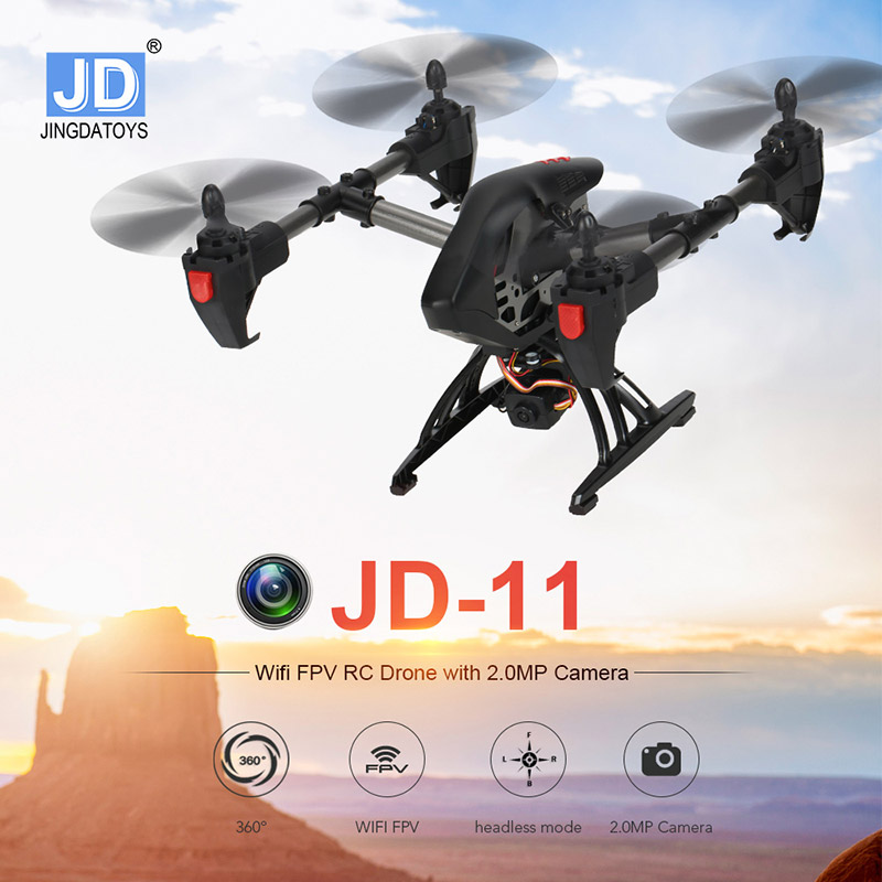 $8 Off JDTOYS JD-11 Wifi FPV 2.0MP HD Camera  RC Quadcopter,free shipping$61.99