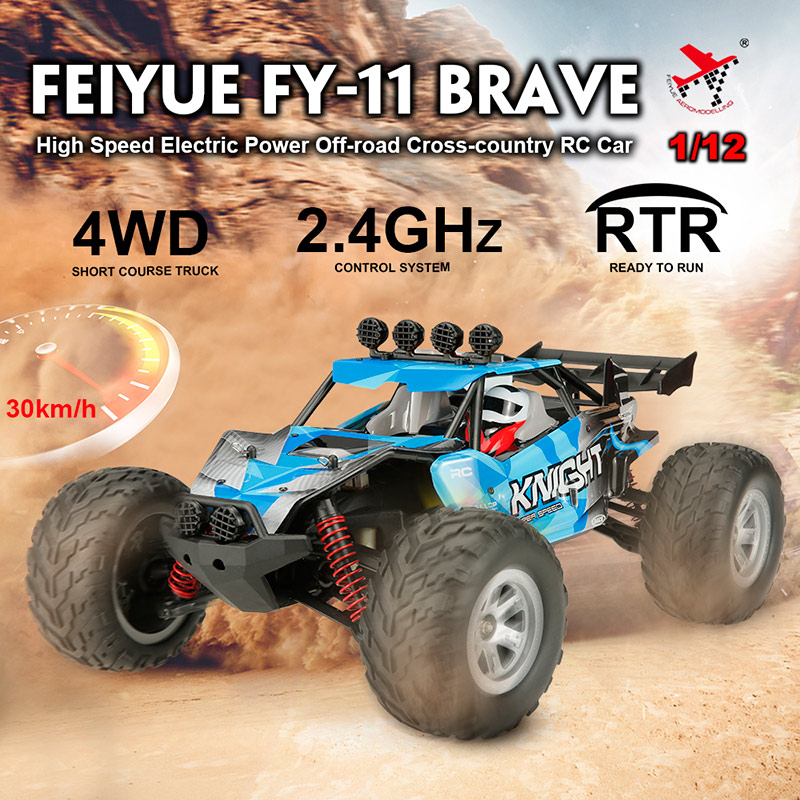 $6 Off Feiyue FY-11 BRAVE 1/12 2.4G 4WD 30km/h High Speed Electric Power Off-road Cross-country RTR RC Car,free shipping
