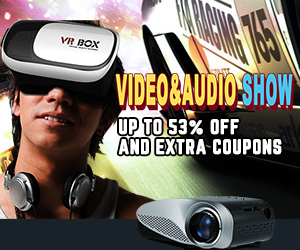 Extra Coupon For Up To 53% OFF Video & Audio Products