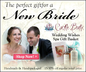 spa gift baskets for new brides from castle baths