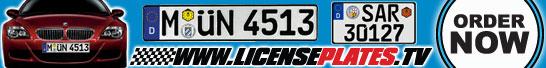 Order Your Custom European License Plate