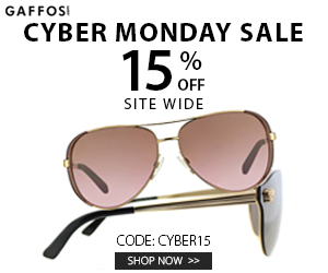 15% OFF Cyber Monday Site Wide Sale