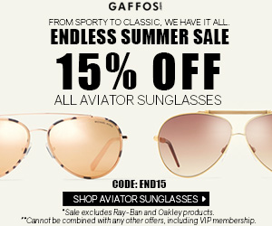 Endless Summer Sale. Use Code: END15 at Checkout and Get 15% OFF For All Aviator Sunglasses