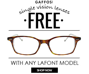 Don't Miss this. Free Single Vision with any Lafont Model
