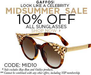 Midsummer Sale. Use Code: MID10 at Checkout and Get 10% OFF for All Sunglasses