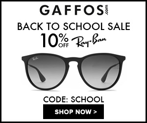 Back to School Sale. 10% OFF All Ray Ban
