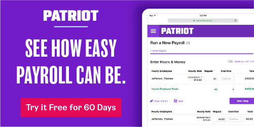 Patriot Software payroll
