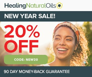 Save 20% off all Healing Natural Oil Products