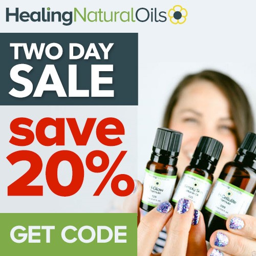 Save 20% off all Healing Natural Oils products