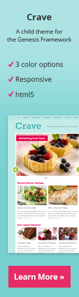 Crave: A modern WordPress theme with appetizing aesthetic