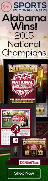 Shop for Authentic Alabama Crimson Tide 2015 CFP National Champs Collectibles at SportsMemorabilia.com